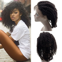Wholesale natural products for curly hair for sale - Group buy Best Selling Products Kinky Curly Human Hair Lace Frontal Free Middle Part With Baby Hair Non Processed For Women G EASY