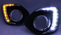 atenuador 12v impermeable al por mayor-Para Mitsubishi ASX 2013 2014 estilo de atenuación Relé a prueba de agua 12V LED Luz para automóvil DRL Luces diurnas con orificio para lámpara antiniebla