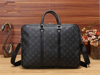 Wholesale briefcase for sale - Man and woman fashion high quality Brands letter Square briefcase female OL Commerce briefcase male handbag