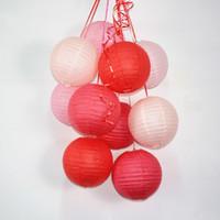 ingrosso carta bianca lanterne cinesi cielo-4-16inch rotonda lanterna cinese lampion bianco lanterne di carta decorazioni per matrimoni cielo lanterna halloween decorazione 10 pz / set