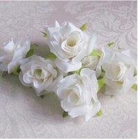 peônias de natal branco venda por atacado-100 pçs / lote 5.5 cm Branco Camélia Seda Artificial Rosa Peônia Casa Cabeça de Flor Decorativa Casamento Natal