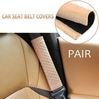 Wholesale car belt protection resale online - 2pcs Soft Car Safety Seat Belt Covers PU Leather Shoulder Protection Universal Vehicle Seatbelt Strap Pad Padding Car Seatbelt
