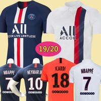 Wholesale kits resale online - Maillots de football kit PSG soccer jersey Paris MBAPPE ICARDI MARQUINHOS jersey camisetas de futbol shirt men kids sets
