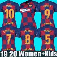 mulher jersey 23 venda por atacado-2019 2020 camisa FC Barcelona 10 Messi camisas de futebol mulheres crianças SUAREZ 23 MUTITI 14 MALCOM camisa de futebol camisa de barcelona jersey PIQUE