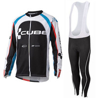 Wholesale ciclismo maillot bike for sale - Group buy 2019 CUBE Pro Cycling Jersey Long Sleeve and Bib Pants Sets Bike Wear Clothes Clothing Maillot Ropa Ciclismo Quick Dry
