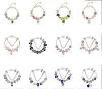 charme de pêssego prata venda por atacado-925 de prata encantos fit para pulseira europeia pandora diy jóias de casamento flor de pêssego pulseira charme bead acessórios
