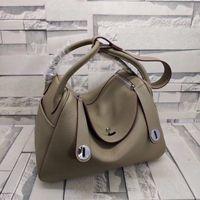 Wholesale super pockets for sale - Group buy 26CM cm Shoulder bags Super Soft Tote cowskin Genuine leather Women Handbag Shoulder bags women Lady Factory