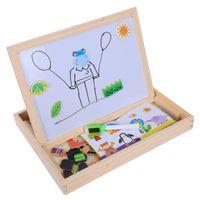 holz magnetischen 3d großhandel-Holzspielzeug Puzzle Kinder Magnetic Early Educational Toy Lustige bunte Montessori Holzspielzeug, Wald