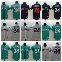 ingrosso freddie freeman grigio jersey-2018 Mariners Baseball Jersey Throwback 24 Ken Griffey Jr 51 Randy Johnson 34 Felix Hernandez 22 Robinson Cano 15 Kyle Seager Jersey