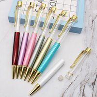 Wholesale color ballpoint pens resale online - Metal Empty Pen Crystal Color Ballpoint Pen High Grade Ball Pens Ball Point Pens Birthday Gifts Kids Teachers Gifts