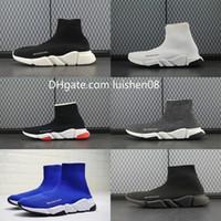 Wholesale man floor socks resale online - Men women INS balanciaga sock Shoes Paris Famous shoes with white texture sole designer Sock Shoes size c2