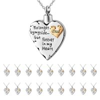 Wholesale pet cremation jewelry for sale - Group buy memorial necklace for mom dad pet no longer by my side forever in my heart cremation pendant jewelry suit