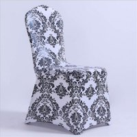 Wholesale chair cover factory resale online - New design print spandex chair covers wedding chair covers decoration factory price