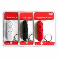 çan poşetleri toptan satış-120db Anti Tecavüz Çift Hoparlörler Loud Alarm Uyarısı Çantası Anahtarlıklar Güvenlik Kişisel Alarm Bell Güvenlik Koruma Yenilik Öğeleri CCA11786 60 adet