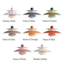 Wholesale black pendant lamps resale online - Modern Lamp Denmark Louis Poulsen PH5 Pendant Lamp Bedroom Lamp White Black Hanging Light Suspension Droplight Living Dining