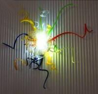 modernos, parede, luzes, quarto venda por atacado-100% Boca Soprado De Vidro De Borosilicato Lâmpadas De Parede De Vidro Italiano Murano Parede Decorativa Luz Modern Art Deco Arte Da Parede De Vidro para Decoração Do Quarto