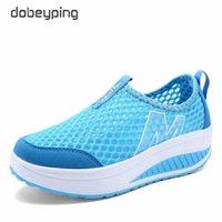 Wholesale swing air resale online - 2018 Spring Summer Shoes Woman Breathable Air Mesh Flat Platform Women Shoes Slip On Women s Loafers Swing Wedges Ladies