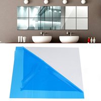 Wholesale modern decor pieces for sale - Group buy 9pcs Mirror Wall Stickers Square Adhesive Decals For Living Room Bedroom Acrylic mirror Wall Mural Modern DIY Art Home Decor