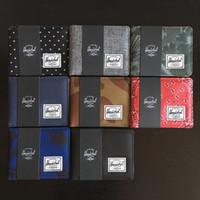 card packaging 도매-Herschel 브랜드 고급 지갑 카드 소지자 디자이너 지갑 남성용 여성용 캔버스 지갑 패션 Unisex 짧은 코인 포켓 카드 패키지