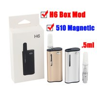 Wholesale H6 Preheating Starter Kit Built in mAh Battery Variable Voltage Vape Box Mod Magnetic Connection with ml Empty Vaporizer Pen Carts