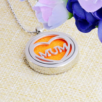 Small Lot Fashional Essential Oil Diffuser Necklace Aromatherapy Diffuser Locket Pendant Set with 5 Color felt pads chain free shipping