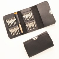 Wholesale phone disassembly kit for sale - Group buy 25 in one multi function screwdriver combination set Apple phone notebook disassembly maintenance kit
