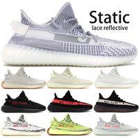 b1b79b6c1 Best Static 350 V2 Kanye West Running shoes With Box Semi Frozen Cream  White mens womens Zebra Black Copper designer Shoes US5-13