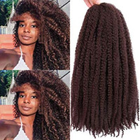 afro kinky curl saç uzantıları toptan satış-Marley Örgüler Saç Afro Kinky Kıvırcık Marley Kıvırmak Büküm Örgü Saç Uzantıları Kanekalon Sentetik Büküm Tığ Saç 18 Inç (33 #)
