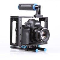dslr stabilizatörler donanımı toptan satış-DSLR Kamera Kafesi Desteği Sabitleyici Rig Ile 15mm Çubuk Rig Için Canon 500D 550D 600D 650D 700D 750D 760D 800D 77D Nikon Kameralar