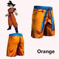 anime gedruckt sport großhandel-Herren 3D Anime Print Shorts Goku Cartoon Shorts Herren Sport Fitness Hosen Saiyajin Vegeta Männlich Urlaub