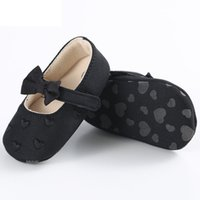детская обувь из ткани ручной работы оптовых-Новорожденных девочек обувь сердце бантом печатных малышей детские ткани мягкой подошвой ручной работы Детская кроватка обувь