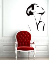 dövme sıcak kız toptan satış-Moda Sıcak Seksi Kız Duvar Çıkartmaları Vinil Duvar Çıkartması Kadın Berber Salon Spa Duvar Kağıdı Çıkarılabilir Tasarım Duvar Dövme