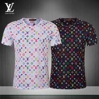 serpiente divertida impresa camisetas al por mayor-19SS de moda de verano patrón de personalidad tendencia de los hombres de alta calidad de la blusa cómoda respirable camiseta de la blusa del tamaño M-3XL 9B