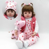 Wholesale toys for newborns for sale - Group buy Realistic Reborn Baby Doll Soft Silicone Stuffed Lifelike Baby Doll Toy Ethnic Doll For Kids