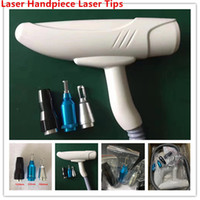 Wholesale q tips resale online - Q Switch Nd Yag Laser Handpiece Laser Handle for Tattoo Pigment Acne Spot Removal with nm nm nm Black Doll Laser Tips