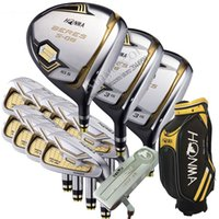 New Golf Clubs HONMA S-06 Golf full set Highquality 3 star Golf wood irons Putter Clubs bag Graphite shaft and headcover Free shipping