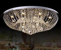 Wholesale flush light fittings for sale - Group buy Diameter mm Crystal Ceiling Light Fixture Lamp lustres Crystal Light fitting for Foyer Hallyway bedroom LLFA