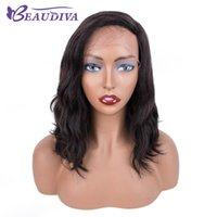 Wholesale lace front wigs loose waves resale online - Beaudiva Lace Front Human Hair Wigs Bob Wig For Black Women Hair Brazilian loose wave Lace Wig