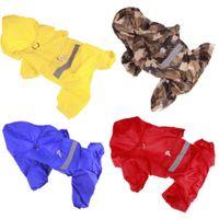vip köpek giysileri toptan satış-Rainwear Pet Ürünleri Köpek Giyim Şeffaf Dış Ticaret Düzenli VIP Altın Köpek Pet Rainwear Toptan