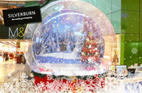 neve bolha venda por atacado-Christamas Hot Sale inflável Snow Globe 3M Dia da bolha inflável bonito Globe Para Outdoor Advertising Photo Booth Limpar