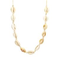 ingrosso handmade shell necklace-Beach Necklace Natural Shell Beads Handmade Hawaiian Bikini Beach Collana regolabile ragazza Ms