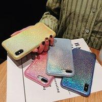 iphone bedeckt licht großhandel-Einteiliger Luxux-PU-Telefon-Kasten für IPhone 8 Entwerfer-Telefonrückseiten-Abdeckungspolarlicht-Steigungs-Art und Weisefälle iphone x Fall