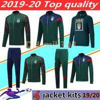 chándales italia al por mayor-Nuevo 19 20 Copa de Europa de fútbol de Italia chaqueta de chándal ajustado 2019 2020 ITALIA BELOTTI Verratti Chiellini INSIGNE Fútbol conjuntos de ropa deportiva chaqueta