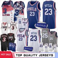 73177f025 Allen 3 Iverson 76ers Joel 21 Embiid Men Basketball Jerseys Philadelphia  Ben 25 Simmons Jimmy 23 Butler City Retro Jerseys High Quality