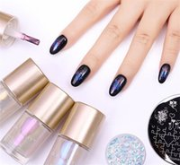 Wholesale NICOLE DIARY ml Nail Polish Jelly Holographic Metallic Thermal Lacquer Shiny Flakies Sequins Manicure Nail Art Lacquer Varnisha
