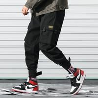 hommes de la mode globale achat en gros de-Pantalon Hip Pop Designer pour hommes 2019 printemps mode pantalons pour hommes avec beaucoup de poches salopette vêtements cordon occasionnel pantalon M-3XL