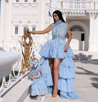 Wholesale mother daughter color wedding dresses for sale - Group buy Newest Mother and Daughter Dresses with Applique Tiered Tulle A Line Princess Wedding Flower Girls Dresses