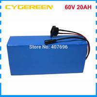 chargeur pour ebike achat en gros de-60V 20AH batterie au lithium ebike 60V 1500W vélo électrique batterie 60V 20AH batterie de scooter avec 30A BMS 2A chargeur