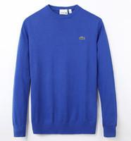 ingrosso maglione uomo maglione-Maglione di lana da uomo maglione pullover maglione uomini maglione di cotone da uomo di marca di polo di alta qualità primavera autunno nuovo maglione