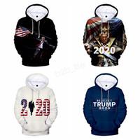 Wholesale hoodies sweatshirts thick online – oversize Donald Trump print Hoodie hooded pullover men women D print Fall Winter Male Female coat outwear sweatshirt outwear coat LJJA2963